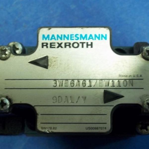 MANNESMANN REXROTH DIRECTIONAL VALVE, 3WE6A61/EW110N #2 image