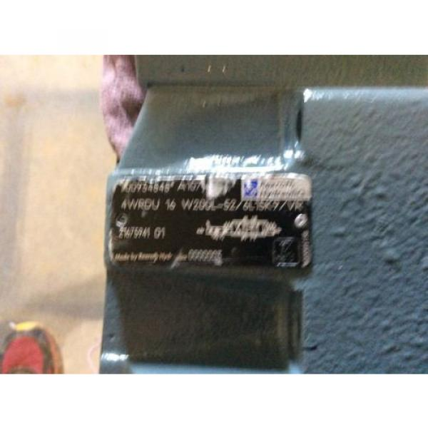 Rexroth Hydraulics servo valve, # 4WRDU 16 W200L-52/6L15K9/VR, free shipping #3 image