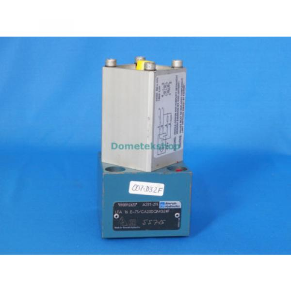 Rexroth R900912620 LFA 16 E-71/CA20DQMG24F Hydraulic Valve #1 image