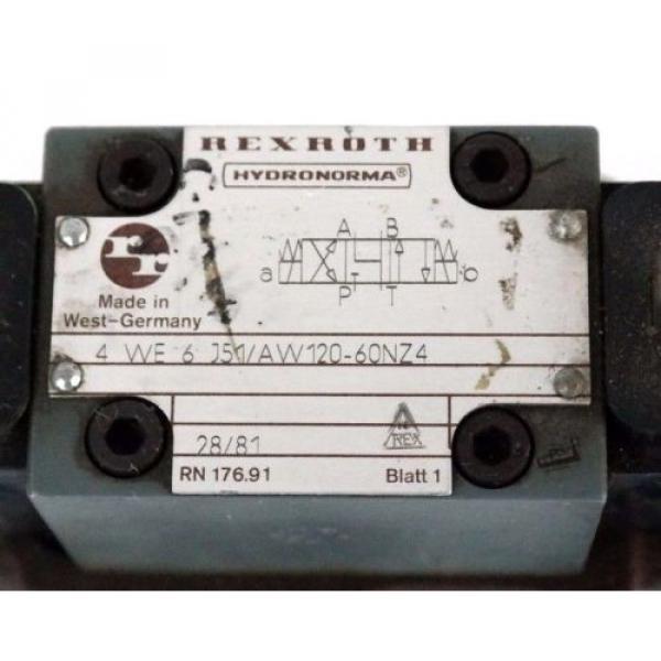 REXROTH 4-WE-6-J51/AW120-60NZ4 HYDRAULIC VALVE W/ WU35-4-S420 COILS #2 image