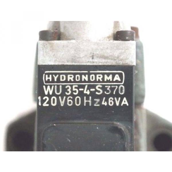 REXROTH 4-WE-6-J51/AW120-60NZ4 HYDRAULIC VALVE W/ WU35-4-S420 COILS #3 image