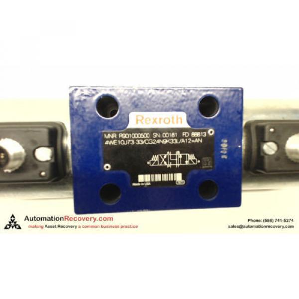 REXROTH 4WE10J73-33/CG24N9K33L/A12 HYDRAULIC VALVE 24VDC COILS #136063 #1 image