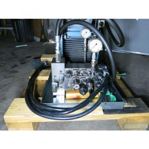 5 HP 105 GPM 2000 PSI Hydraulic Power Supply With Control Valves Sharp #10 image