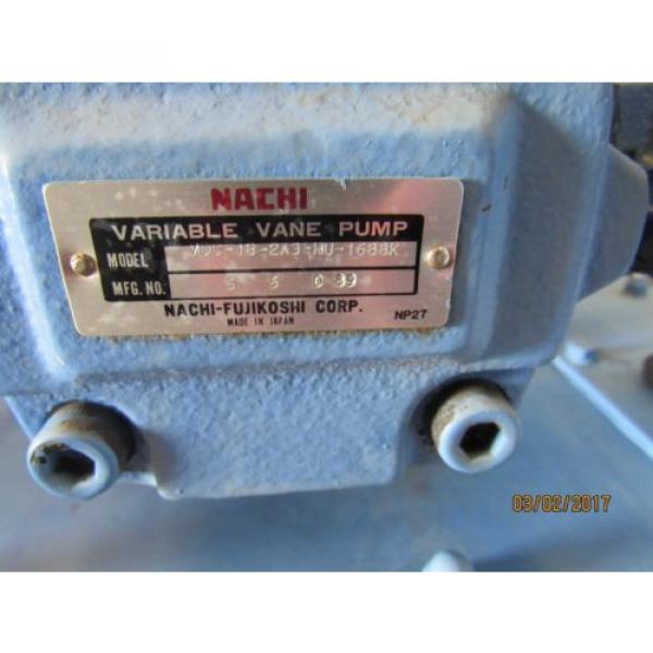 NACHI HYDRAULIC POWER UNIT VARIABLE VANE VDC-1B-2A3-HU-1688K/OG331000 MOTOR #6 image