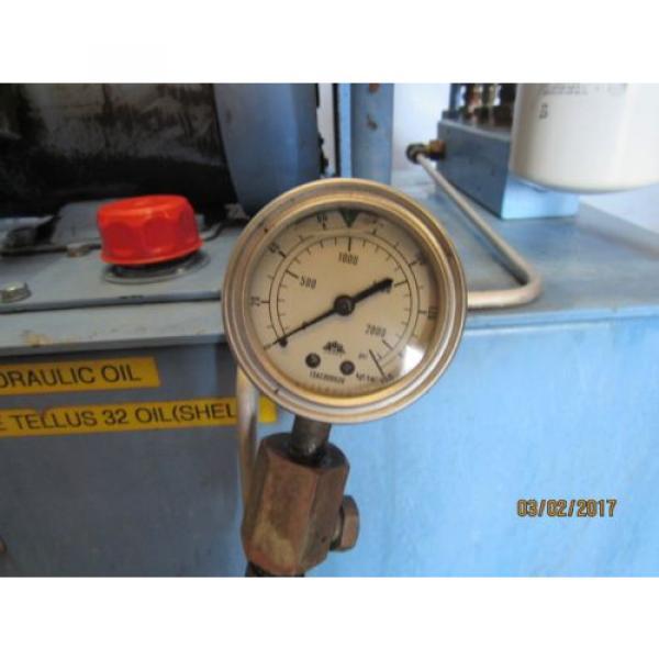 NACHI HYDRAULIC POWER UNIT VARIABLE VANE VDC-1B-2A3-HU-1688K/OG331000 MOTOR #7 image