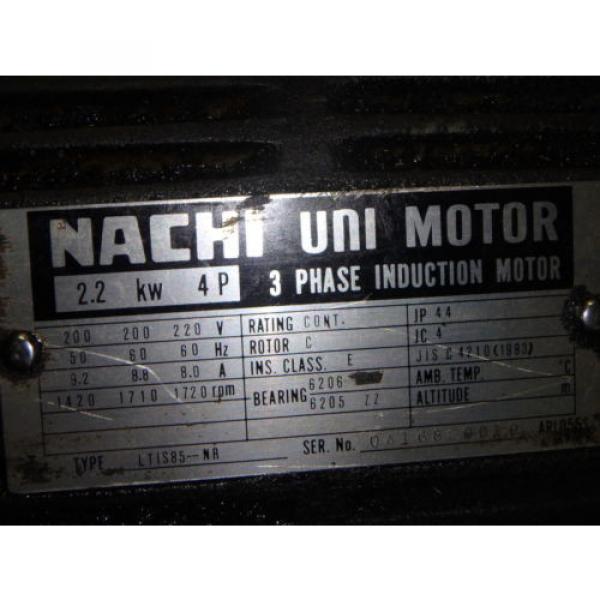 Nachi Variable Vane Pump Motor_VDR-1B-1A3-1146A_LTIS85-NR_UVD-1A-A3-22-4-1140A #6 image