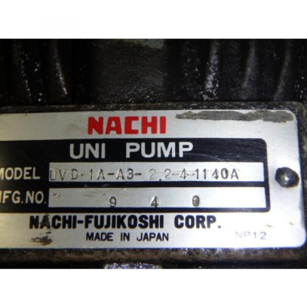 Nachi Variable Vane Pump Motor_VDR-1B-1A3-1146A_LTIS85-NR_UVD-1A-A3-22-4-1140A #8 image