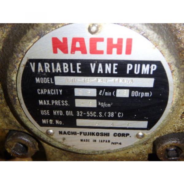 Nachi Variable Vane Pump Motor_VDR-1B-1A3-1146A_LTIS85-NR_UVD-1A-A3-22-4-1140A #9 image
