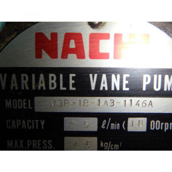 Nachi Variable Vane Pump Motor_VDR-1B-1A3-1146A_LTIS85-NR_UVD-1A-A3-22-4-1140A #10 image
