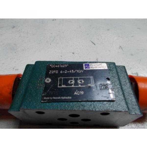 Rexroth Z2FS-6-2-43/1QV Hydraulic Dual Flow Control Valve D03 #2 image