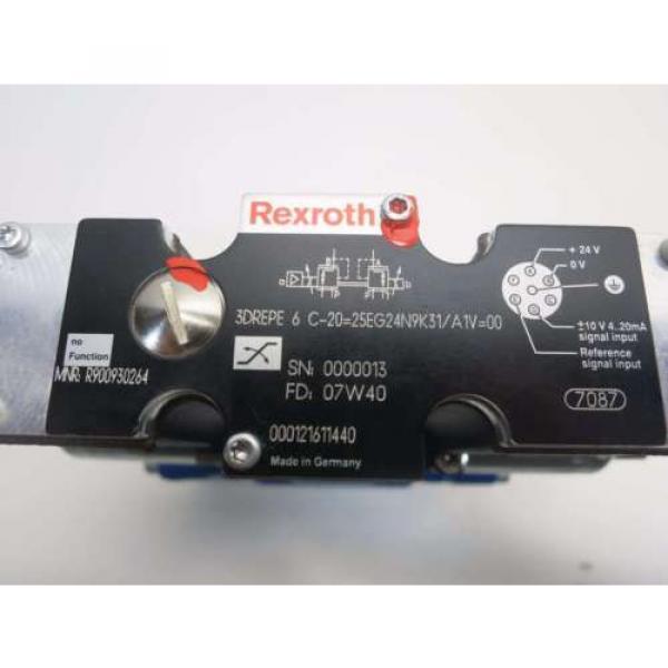 Origin REXROTH 4WRZE10W6-85-70/6E624N9ETK31/A1D3V HYDRAULIC SOLENOID VALVE D518078 #7 image