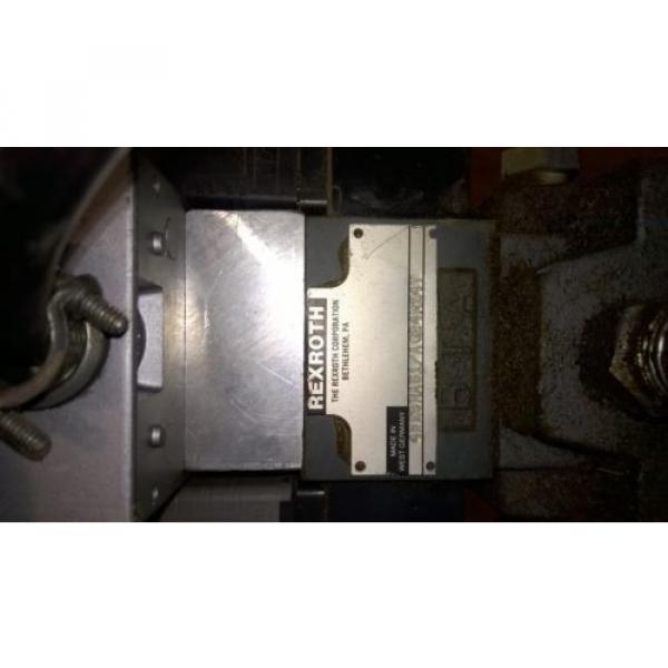 REXROTH 4WE6HA51 / AG24NZ4V DIRECTIONAL VALVE / 4 WAY BASE PLATE #1 image