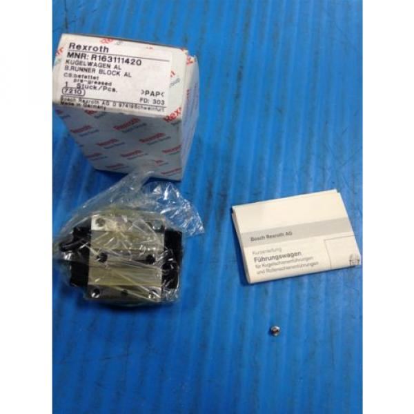 Origin REXROTH R163111420 RUNNER BLOCK BALL CARRIAGE LINEAR BEARING U4 #1 image
