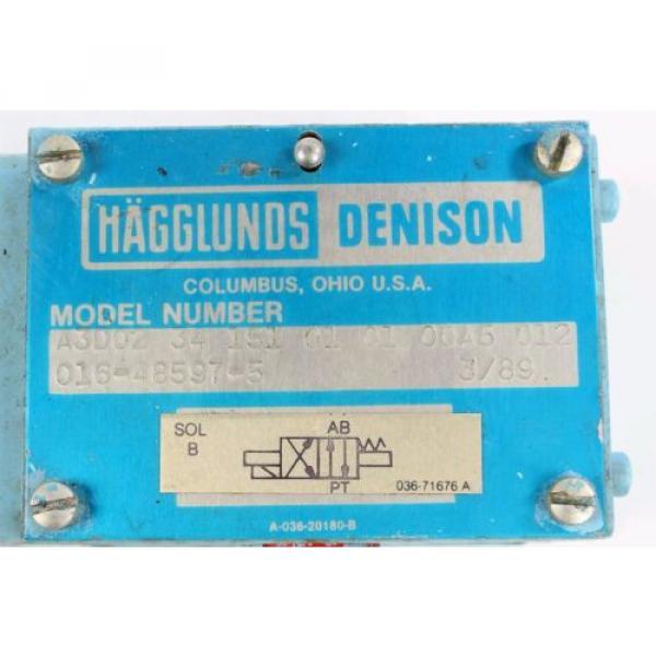 origin 016-48597-5 Denison Hydraulic Valve A3D02-34 151 01 01 00A5 012 #2 image