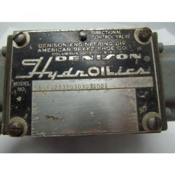 Denison D1D123320303031001 Directional Control Valve Hydraulic 115/60 Coils #8 image