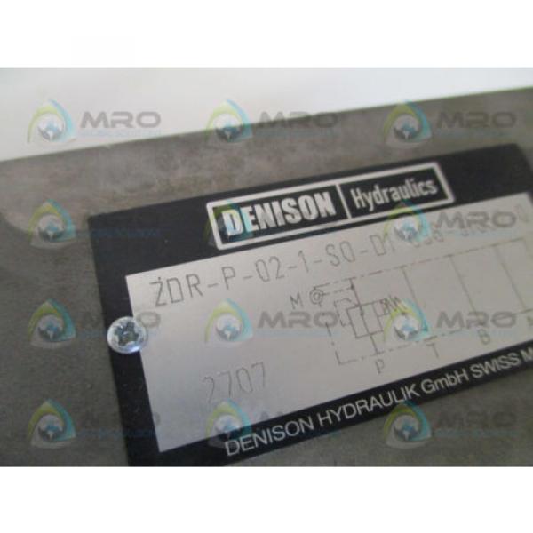 DENISON ZDR-P-02-1-S0-D1 HYDRUALIC FLOW CONTROL VALVE Origin NO BOX #2 image