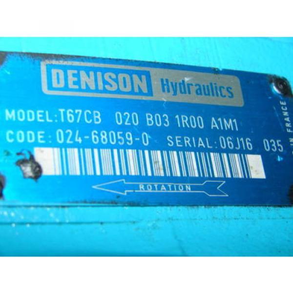 DENISON T67CB-020-B03-1R00-A1M1 HYDRAULIC MOTOR XLNT #3 image