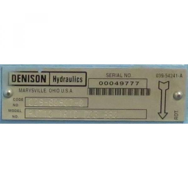 DENISON HYDRAULICS Variable Displacement Piston Pump M/N: PVT101R1D #5 image