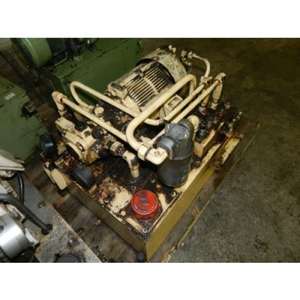 Nachi 3 HP Oil Hydraulic Unit, Nachi Variable Vane Pump VDR-11B-1A2-1A2-22, Used #2 image
