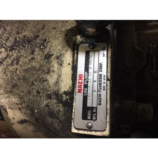 Nachi 3 HP Hydraulic Unit, Nachi Vane Pump # VDR-1B-1A3-U-1146K, OFF OKUMA LATHE #6 image