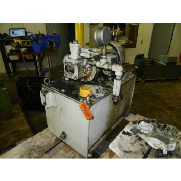 Nachi 2 HP 15kW Hydraulic Unit w/ Tank, VDS-0B-1A3-U-10, Used, WARRANTY #8 image