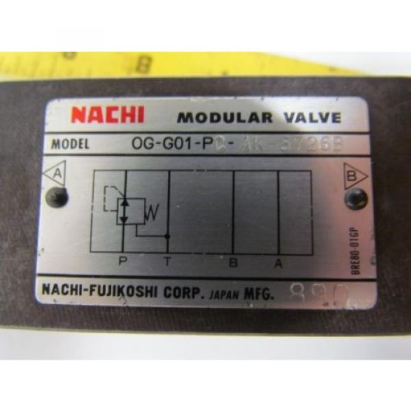 Nachi 0G-G01-PC-AK-5726B Hydraulic Pressure Reducing Modular Valve #7 image