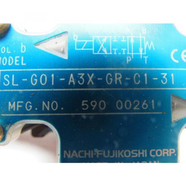 Nachi SL-GO1-A3X-GR-C1-31 Hydraulic Solenoid Directional Control Valve #8 image