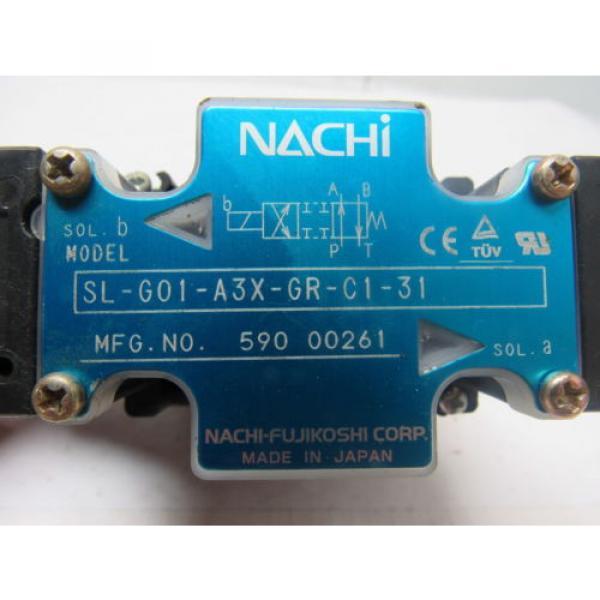 Nachi SL-GO1-A3X-GR-C1-31 Hydraulic Solenoid Directional Control Valve #9 image