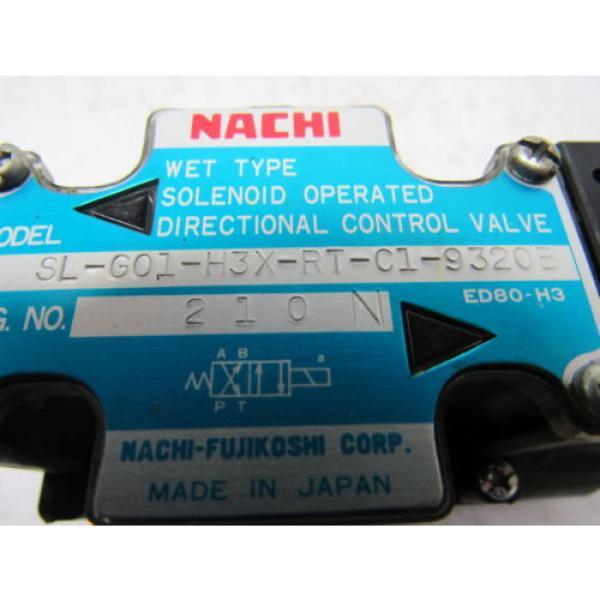 Nachi SL-G01-H3X-RT-C1-9320B Hydraulic Solenoid Directional Control Valve #7 image