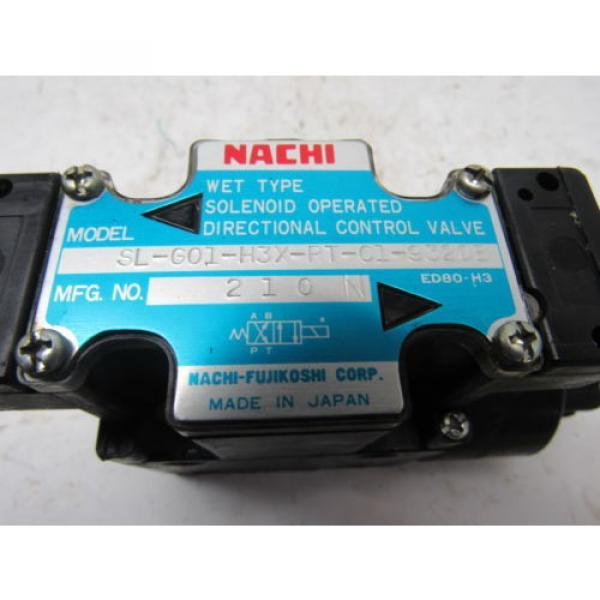 Nachi SL-G01-H3X-RT-C1-9320B Hydraulic Solenoid Directional Control Valve #8 image