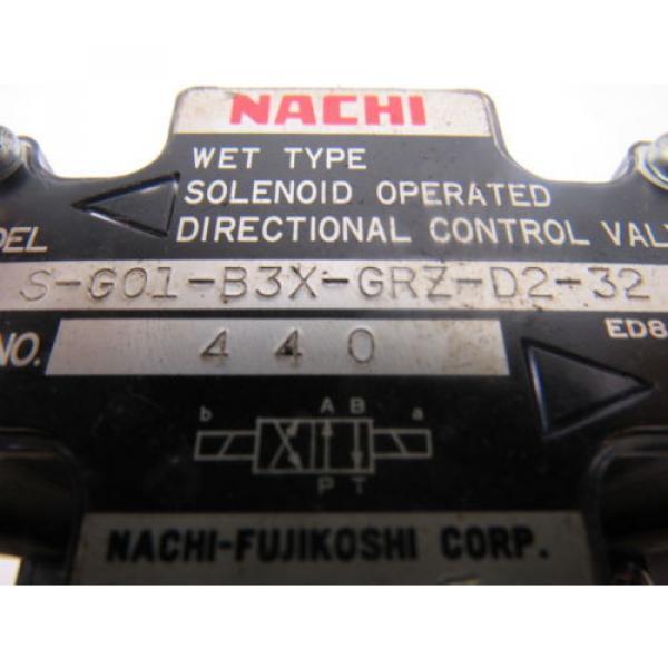 Nachi S-G01-B3X-GRZ-D2-32 Hydraulic Solenoid Directional Control Valve #8 image