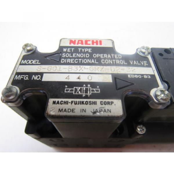 Nachi S-G01-B3X-GRZ-D2-32 Hydraulic Solenoid Directional Control Valve #9 image
