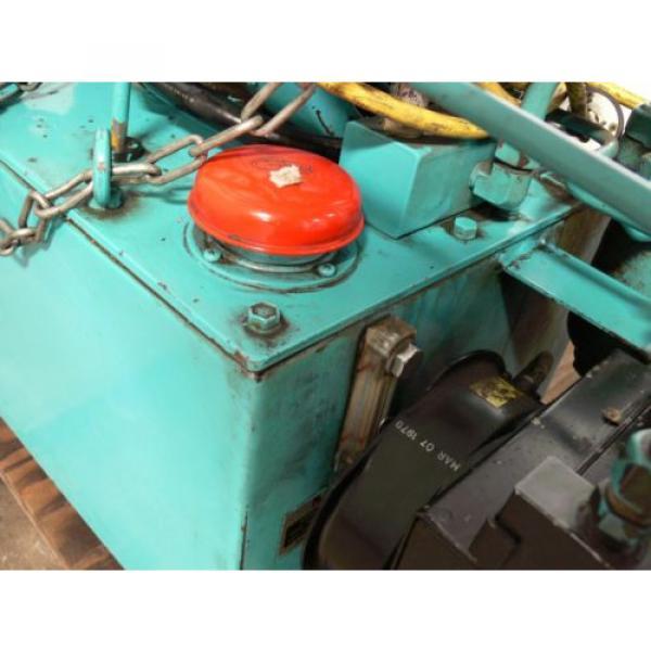 NACHI VDR-1B-1A3-B VARIABLE VANE HYDRAULIC amp; UNI PUMP  WITH TANK amp; OIL COOLER #6 image