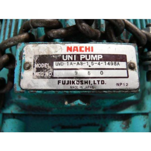 NACHI VDR-1B-1A3-B VARIABLE VANE HYDRAULIC amp; UNI PUMP  WITH TANK amp; OIL COOLER #8 image