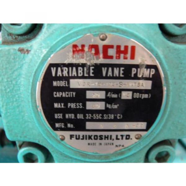 NACHI VDR-1B-1A3-B VARIABLE VANE HYDRAULIC amp; UNI PUMP  WITH TANK amp; OIL COOLER #9 image