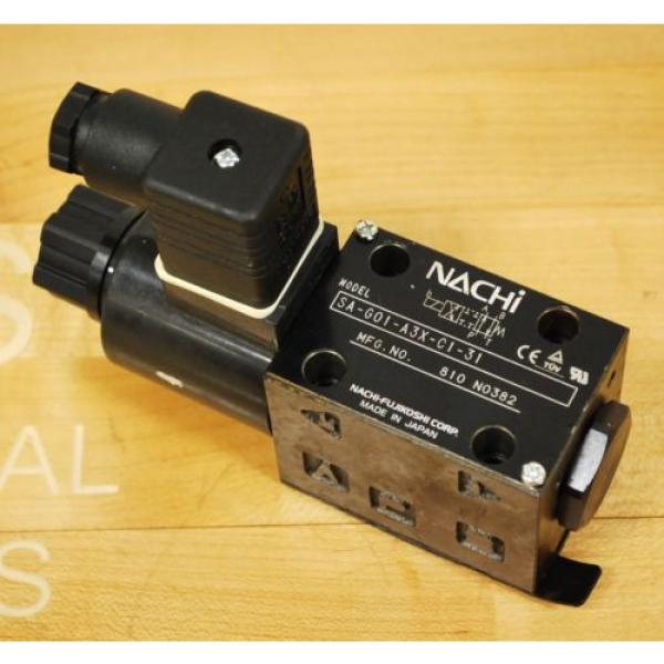 Nachi SA-G01-A3X-C1-31 Hydraulic Directional Control Valve With B12GDM Solenoid #1 image