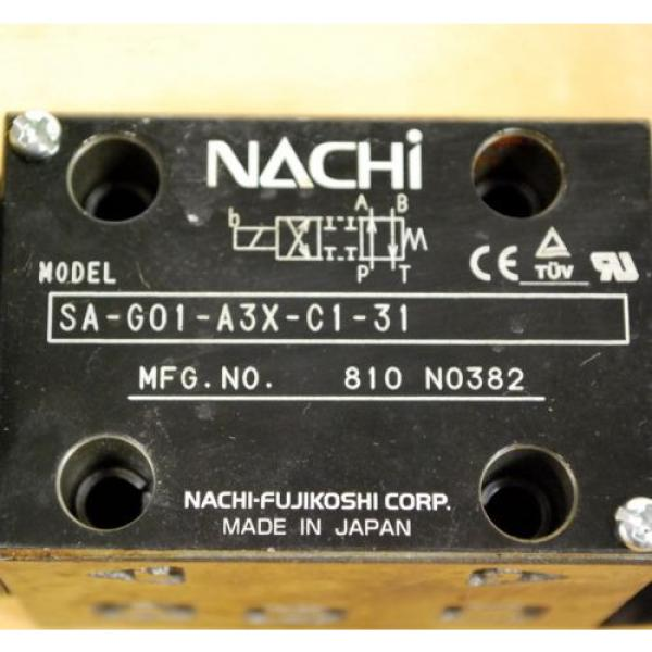 Nachi SA-G01-A3X-C1-31 Hydraulic Directional Control Valve With B12GDM Solenoid #2 image