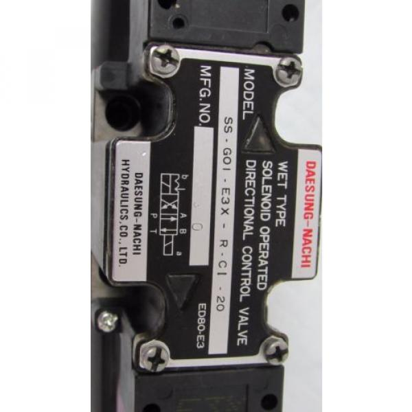 DAESUNG-NACHI SS-GO1-E3X-R-C1-20 WET SOLENOID OPERATED DIRECTIONAL CONTROL VALVE #3 image