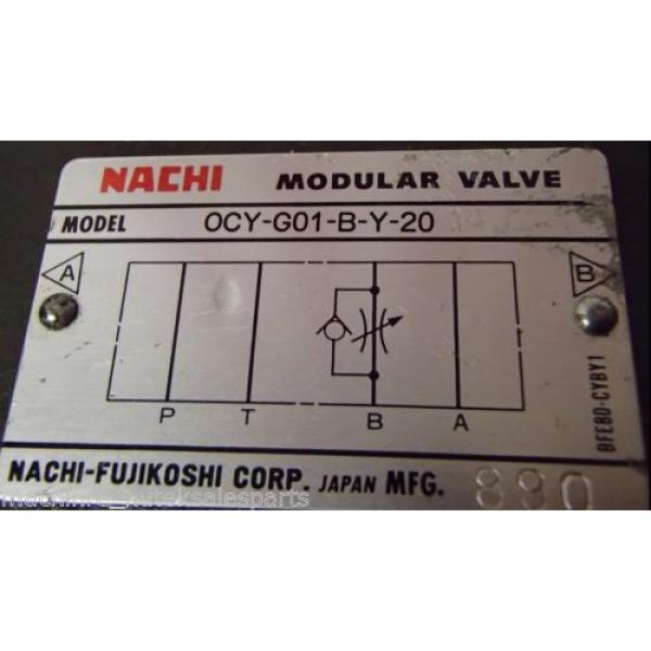NACHI Modular Valve OCY-G01-B-Y-20 _ OCYG01BY20 #5 image