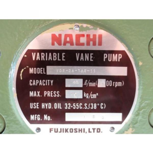 NACHI VARIABLE VANE PUMP VDR-2A-1A2-11 #2 image