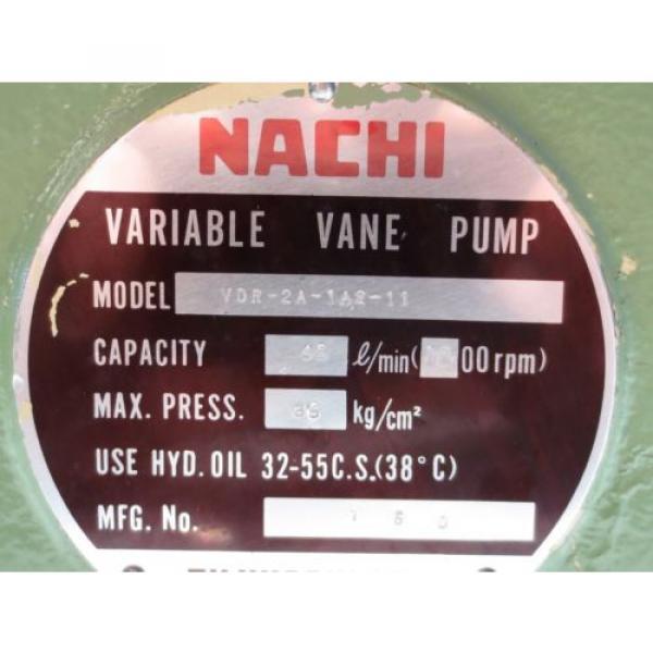 NACHI VARIABLE VANE PUMP VDR-2A-1A2-11 #3 image