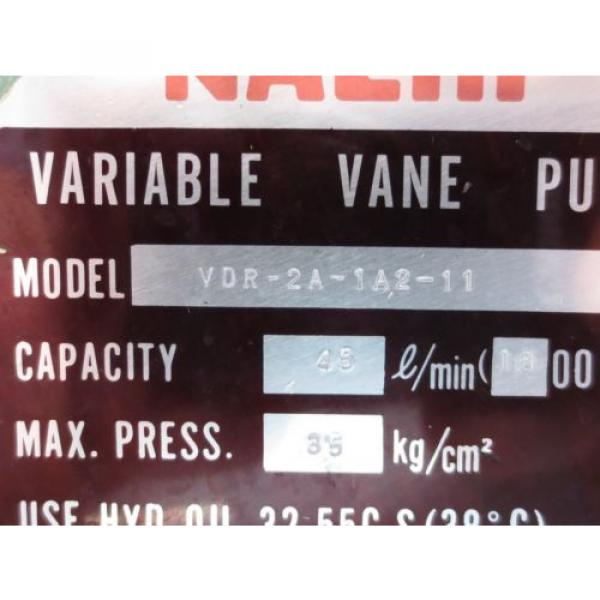 NACHI VARIABLE VANE PUMP VDR-2A-1A2-11 #4 image