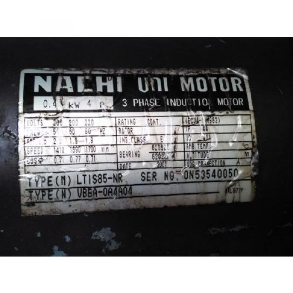 NACHI UNI Pump Motor LTIS85-NR #7 image