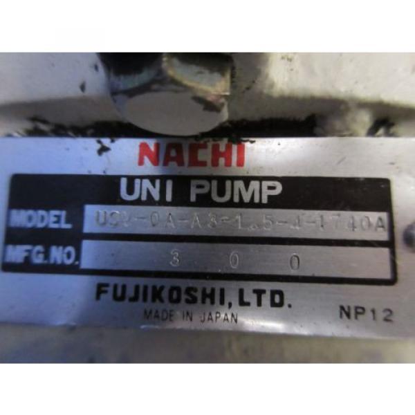 FUJI NACHI OIL MOTOR MLA2097J PUMP USV-0A-A3-15-4-1740A VDS-0B-1A3-D-1731A #5 image