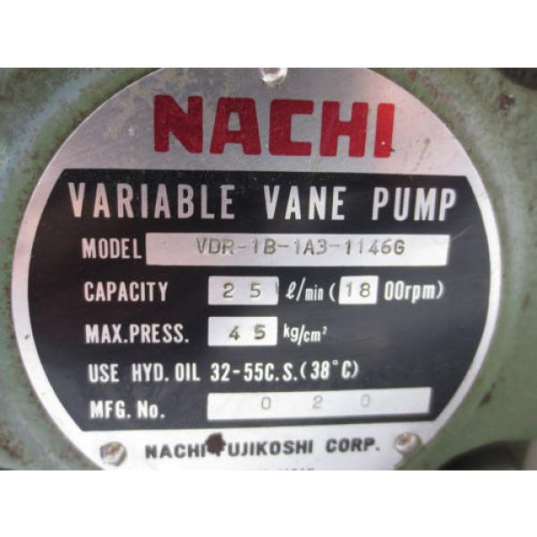 NACHI VARIABLE VANE PUMP VDR-1B-1A3-1146G #2 image