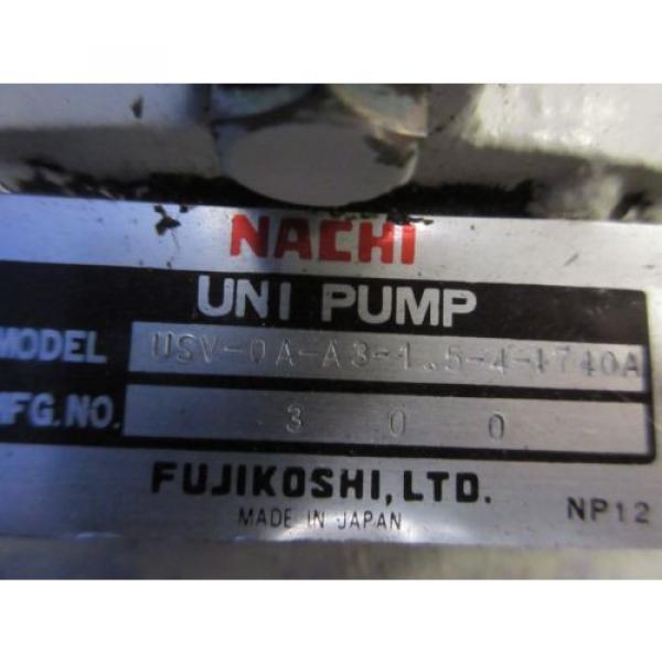 FUJI NACHI OIL MOTOR MLA2097J PUMP USV-0A-A3-15-4-1740A VDS-0B-1A3-D-1731A #6 image