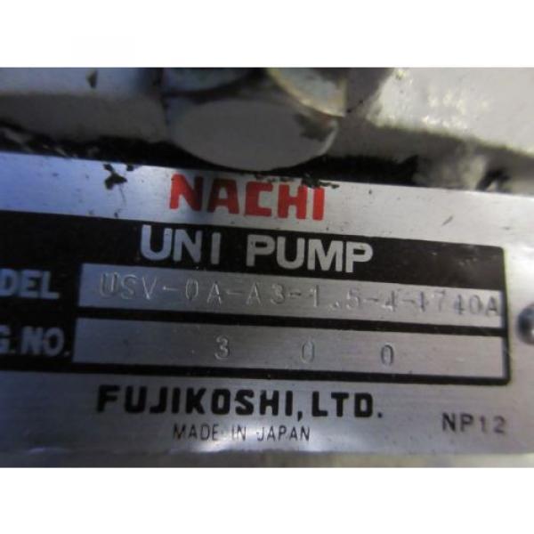 FUJI NACHI OIL MOTOR MLA2097J PUMP USV-0A-A3-15-4-1740A VDS-0B-1A3-D-1731A #7 image