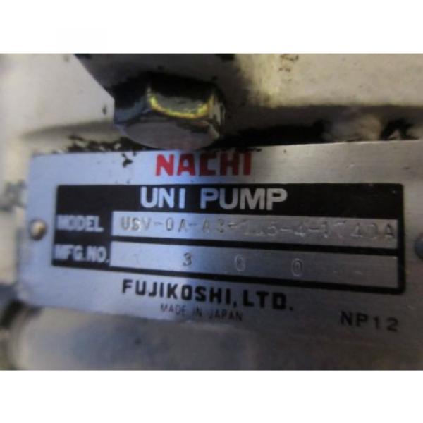 FUJI NACHI OIL MOTOR MLA2097J PUMP USV-0A-A3-15-4-1740A VDS-0B-1A3-D-1731A #8 image