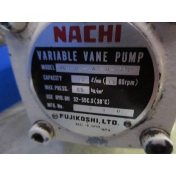 FUJI NACHI OIL MOTOR MLA2097J PUMP USV-0A-A3-15-4-1740A VDS-0B-1A3-D-1731A #9 image