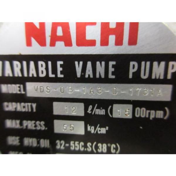 FUJI NACHI OIL MOTOR MLA2097J PUMP USV-0A-A3-15-4-1740A VDS-0B-1A3-D-1731A #11 image